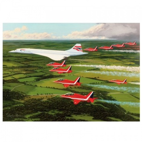 Wentworth Red Arrows Planes 250 Piece Laser Cut Wooden Jigsaw Puzzle