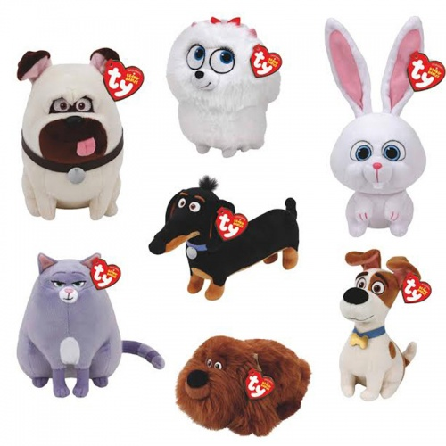 TY Secret Life Of Pets Set Of 7 Beanie Boo's