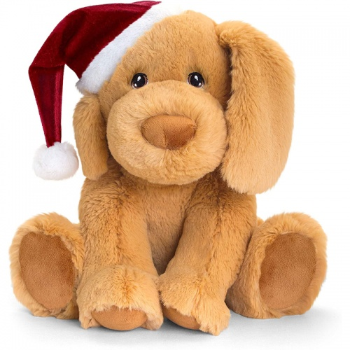 Keel Toys Puppy Dog Christmas Soft Toy
