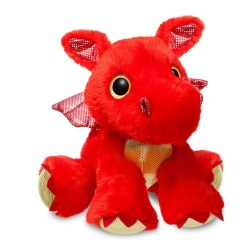 Sparkle Tales Sizzle Red Dragon Soft Toy
