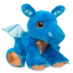 Sparkle Tales Flash Blue Dragon Soft Toy