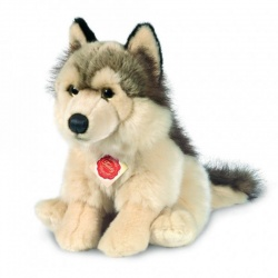 Teddy Hermann Wolf Sitting Plush Soft Toy Animal