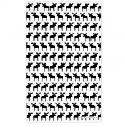 Jangneus Black Moose Tea Towel