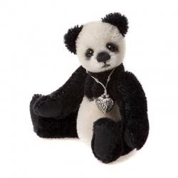 Charlie Bears Denim Teddy Bear Keyring