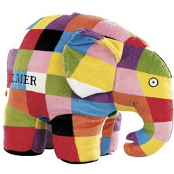 Elmer the Patchwork Elephant Soft Toy Animal
