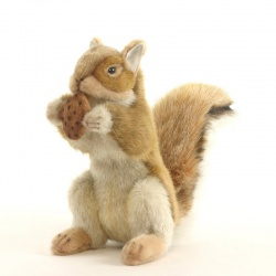 Hansa Red Squirrel with nut 22cm Plush Soft Toy