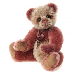 Charlie Bears Mohair Keyring Slipper Limited Edition 2013 Teddy Bear
