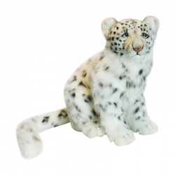 Hansa Sitting Snow Leopard Plush Soft Toy