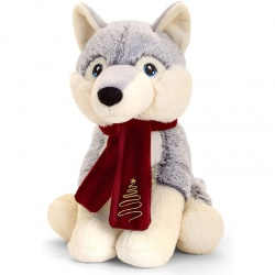 Keel Toys Husky Christmas Soft Toy